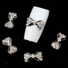 10pcs 3D Nail Art Sparkly Party Bling Rhinestone Bow Waterdrop Alloy Crafts