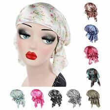 Muslim Women Satin Stretch Turban Hat Scarf Chemo Hair Bonnet Cap Amira Headwear