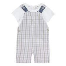J By Jasper Conran Kids Baby Boys' Lilac Checked Print T-Shirt And Dungarees Set