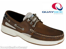 QUAYSIDE TAN SYDNEY PORTUGUESE MADE DECK SHOES SUPERB LEATHER BOAT SHOES