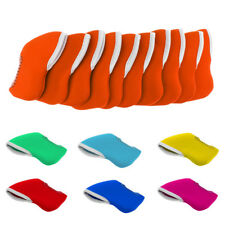 10Pcs Neoprene Golf Club Protective Iron Head Cover Wedge Sock Headcover