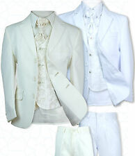 New Boys All in One Ivory White Wedding Suit White Ivory First Communion Suit