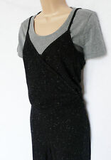 BNWT NEXT 2 Piece Jumpsuit grey black marl jersey casual tapered leg wrap style