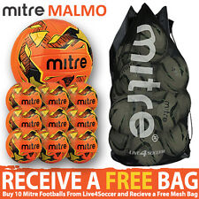 10 x Mitre Malmo Training Footballs Plus FREE Mesh Bag