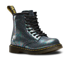 Dr Martens Delaney Sparkle Grey Leather Boots