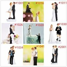 Romantic Bride and Groom Wedding Couple Figurine Dancing Dip Hug Cake Topper