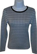 USED Ladies Topshop Blue Mixed Jumper Size 6 (L.H)