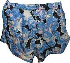 USED Ladies Hearts & Bows Blue Mix Floral Shorts Size 6 (L.H)