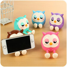 Cute Owl Phone Holder Stand Mount Money Saving Bank Mini Coin Box Hot Gift