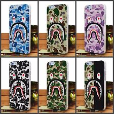 Camo bape Aape Camouflage Army transparet clear Hard Case for iphone and samsung