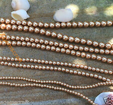 4,6,8,10mm Gold golden shiny pearlescent Glass Pearl round beads Craft Beading