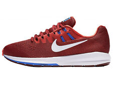 NEW MENS NIKE AIR ZOOM STRUCTURE 20 RUNNING SHOES TRAINERS TEAM RED / MAX ORANGE
