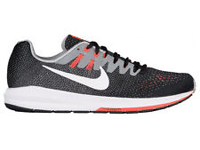 NEW MENS NIKE AIR ZOOM STRUCTURE 20 RUNNING SHOES TRAINERS BLACK / MATTE SILVER