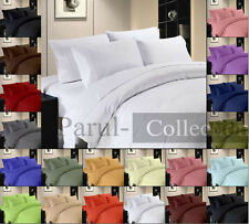 For CANADA 15 Color in Solid(Plain) 4pc sheet Set 1000tc 100%Egyptian Cotton 15""