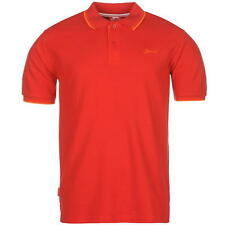Slazenger Mens Tipped Polo Shirt Cherry Red New With Tags