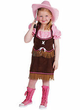 Girls  -  Brown / Pink Cowgirl  Costume   - ages 3 to 14