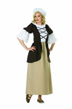 COLONIAL LADY WOMAN COSTUME PEASANT PILGRIM PIONEER PRAIRIE ADULT COSTUMES 81330