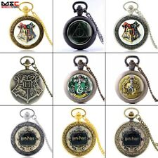 Antique Vintage Retro Harry Potter Quartz Pocket Watch Necklace Pendant Gift New