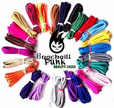 Round Coloured Shoe Laces Chunky Shoelaces Bootlaces 5mm  90 110 130 150 180 cm