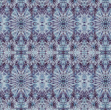 Indigo Blue Tie Dye Hippy Abstract Geometric Fabric Printed by Spoonflower BTY