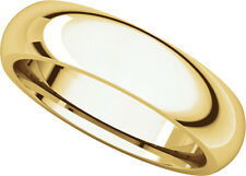 14K Yell. Gold, Comfort Fit Wedding Band 5MM sz 4-15