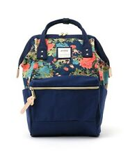 ANELLO Japan Floral Print Handle Backpack Campus Rucksack Canvas School Bag New
