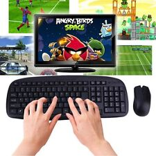 2.4GHZ Wireless Combo Set 1600DPI Computer PC Gaming Mouse + Keyboard Set lot XC