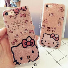 Pink BlingBling Hello Kitty Silicon Case Cover For iPhone 6/6S/7 Plus Gift Hot