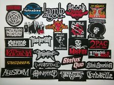 Metal Punk Black Rapper Thrash Power Music Band Patch Embroidered Sew Iron On