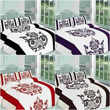 New & Modern DARCY Duvet Quilt Cover Bedding Set with Pillowcases, All sizes