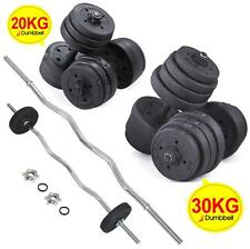 Barbell Set Dumbbell Triceps Curl Bar Weight Plate Weightlifting 20KG/30KG New