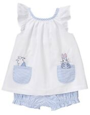 NWT Gymboree Peter Rabbit White shirt top Bloomer set 0 3 6 12 18 24mo Baby Girl