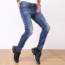 7205 LIGAO Casual Mens Jeans Elastic Waist Straight Pants Casual Trousers GN