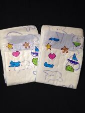 Diappizz Plastic Adult Diaper Baby Print NEW ABDL IMPORTED Nappy 2 Pack Sample