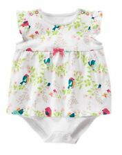 NWT Gymboree Birds and Dinos Romper Baby Girls 0 3 6 12 18 24 mo