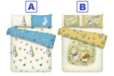Peter Rabbit Fitted Sheet Pillow Case Quilt Cover Bedding Beatrix Potter Pink