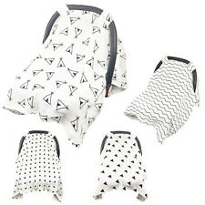 Muslin Baby Car Seat Canopy Dustproof Swaddle Stroller Blanket Shading Cover DY2