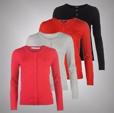 Ladies Branded Full Circle Soft Fine Knit Crew Cardigan Top Knitwear Size 10-16