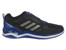 NEW MENS ADIDAS SPEED TRAINER 3.0 RUNNING SHOES TRAINERS BLACK / IRON METALL