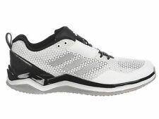 NEW MENS ADIDAS SPEED TRAINER 3.0 RUNNING SHOES TRAINERS WHITE / SILVER 2E-WIDE