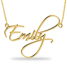 Personalized Name Necklace in 18K Gold Plated Sterling Silver -Personalized Gift