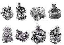 Pewter Childrens Keep Sake First Curl / Tooth Christening Gift Wee Boxes