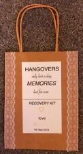 5X / 10X Hangover Recovery Kit Wedding Party Favor Bags personalised