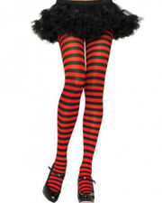 Black And Red Striped Plus Size Tights