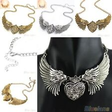 Hot Fashion Angel Wings Chain Collar Dress Necklace Crystal Rhinestone Jewelry
