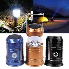 Collapsible Solar Outdoor Rechargeable Camping Lantern Light LED Hand Lamp Light