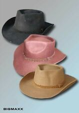 Cowboy hat in Western Style Felt three colours Size S to XL
