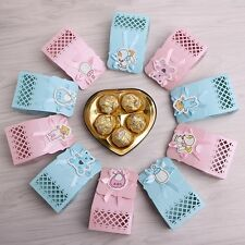 12Pcs Candy Ribbon Boxes For Baby Newborns Shower Birthday Party Bags Favor Gift