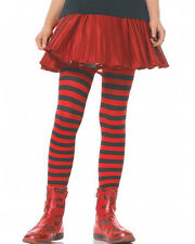 Black And Red Striped Girls Tights
