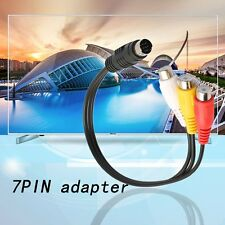 S-Video 7 Pin to 3 RCA Female RGB Component Cable Adapter for DVD TV/HDTV DS